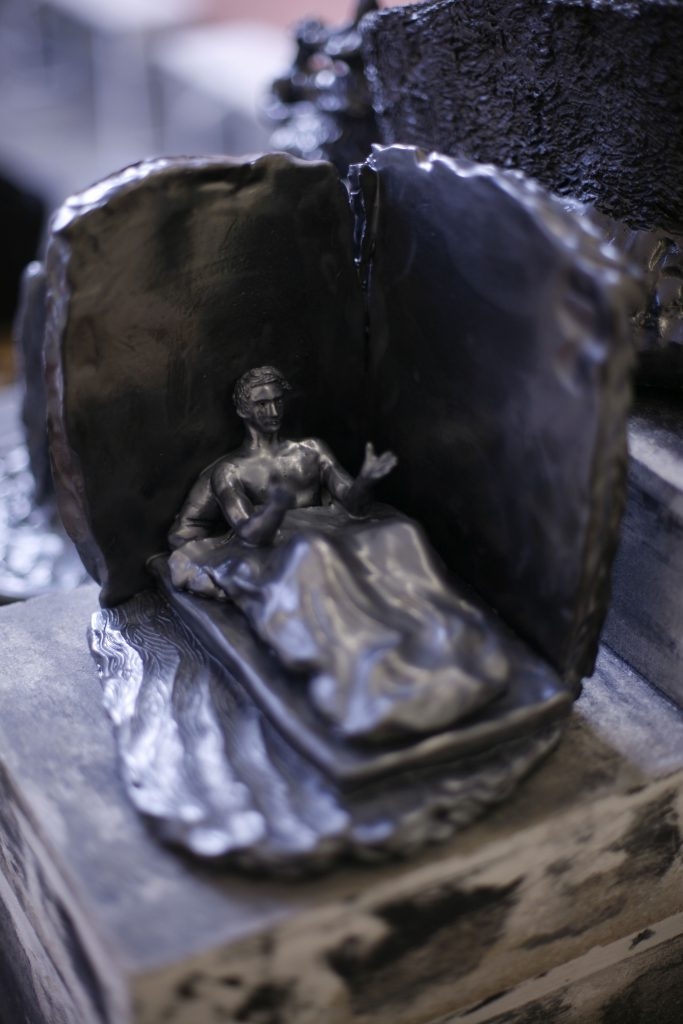 Andreas Chwatal, S2 La cite / E20 Lieu de drague, 2015, Keramik, 20 x 18.5 x 19.2 cm